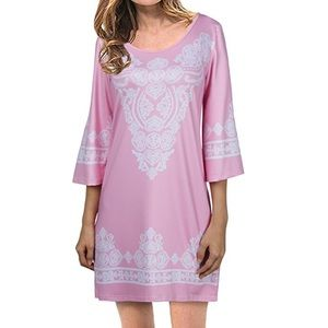 Dresses & Skirts - Boho 3/4 Bell Sleeve Tunic Dress